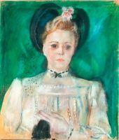Mattioni Eszter, Hollósné (1902-1993): Női portré | axioart.com