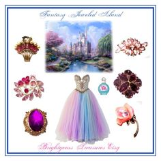 """""""Fantasy Jewel Island"""" by brightgemsu ❤ liked on Polyvore featuring Bob Mackie and Britney Spears"""