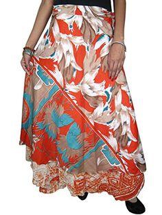 Womens Wrapskirt Two Layer Brown Printed Long Vintage Silk Sari Skirt Mogul Interior http://www.amazon.com/dp/B00OQ0C85A/ref=cm_sw_r_pi_dp_R2ptub0N27HKG