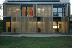 """French studio Karawitz Architecture has designed the Passive House project, the first house near Paris to receive the european labeled certification """"Passiv Haus Institut"""". Completed in 2009, this 1,905 square foot two story contemporary home is located in the city of Bessancourt, North of Paris, France. Passive House by/ Karawitz Architecture: """"A house without heating system. The windows and prefabricated walls are so well insulated that the home's primary sources.."""