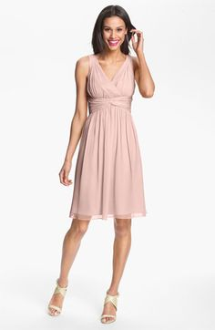 Donna Morgan Twist Silk Chiffon Dress