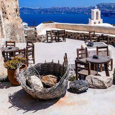 At Santorini Greece