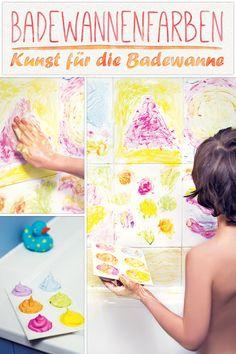 Eine tolle Anleitung für Badewannenfarben - extra für Kinder zum Selbermischen. (© 2015 Rachel Warne/Coppenrath)