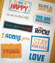 Kindness Cards to Print from Skip to My Lou