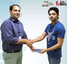 Winner of #FinlaceWC2015 contest... India vs Bangladesh was awarded to Aakash Upadhyay by #finlace Team.