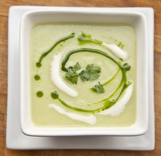 Celery Root & Fennel Soup.  Soup is great.  Parsley oil? Not so much...
