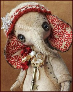 Alla Bears original artist  Elephant Ellie art doll от AllaBears