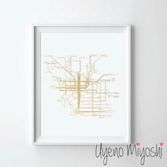 Hey, I found this really awesome Etsy listing at https://www.etsy.com/listing/224970672/melbourne-tram-network-gold-foil-print