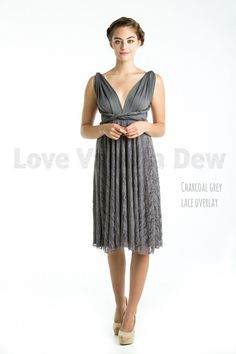 Hey, I found this really awesome Etsy listing at https://www.etsy.com/ca/listing/229147339/bridesmaid-dress-infinity-dress-charcoal