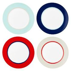 Buy House by John Lewis Studio Side Plates, Set of 4, Multi | John Lewis