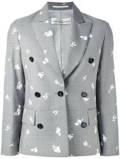 GOLDEN GOOSE Printed Blazer. #goldengoose #cloth #blazer Gray Jacket, Blazer Jacket, Summer Business Casual Outfits, Floral Blazer, Printed Blazer, Print Jacket, Golden Goose, Outerwear Jackets, Blazers
