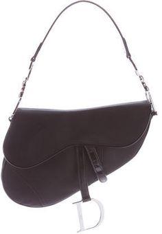 Christian Dior Leather-Trimmed Saddle Bag   https://api.shopstyle.com/action/apiVisitRetailer?id=612943201&pid=uid2500-37484350-28