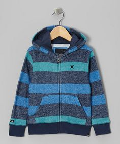 Take a look at this Legacy Navy Retreat Stripe Hoodie - Toddler & Boys by Hurley on #zulily today!