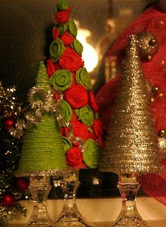 Christmas Trees made with Paper Plates