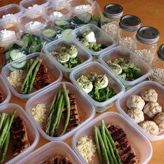 7 days of meal prep in advance - cool idea for a healthy week