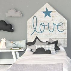 ♥ grey in boy bedroom interior Toddler Rooms, Kids Rooms, Happy House, Kids Decor, Home Decor, Little Girl Rooms, Kid Spaces, Boy Room, Girls Bedroom