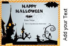 Free Halloween Cards with your photo and your text. Instant download!