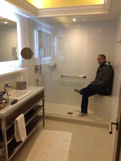 Seamless Bathroom Floor To Shower. Open Shower, No Door