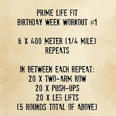 It's my Birthday Week! 7 days of workouts for you!