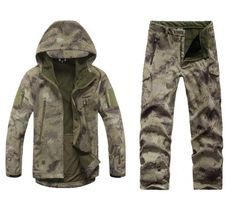 Men Tactical Jacket  Army Camo Military Waterproof Hunting Clothes - 520outdoor
