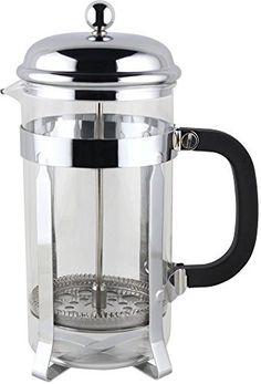 Utopia Kitchen French Coffee Press 3-Piece Set in Chrome (8 Cups/4 Mug, 34 oz, 1 Liter) - http://teacoffeestore.com/utopia-kitchen-french-coffee-press-3-piece-set-in-chrome-8-cups4-mug-34-oz-1-liter/
