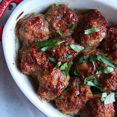 Meatloaf Meatballs Get The Recipe @ https://www.facebook.com/Urban-Foodie-321998004590237/ #MeatloafMeatballs