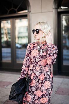 Poor Little It Girl - Floral Maxi Dress - @poorlilitgirl