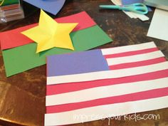 Make a flag of your sponsored child's country. Add your flag, too!