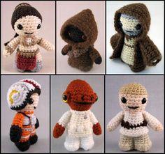 PDFs of 5 Star Wars Mini Amigurumi Patterns por lucyravenscar