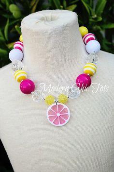 Pink Lemonade/Sunshine & Lemonade Chunky Necklace