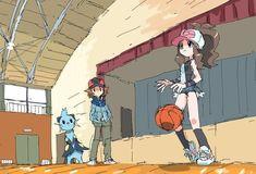 Dewott and Basketball Pokemon Mew, Pokemon Hilda, Pokemon Charizard, Black Pokemon, Pokemon Ships, Pokemon Comics, Pokemon Funny, Pokemon Fan Art, Pokemon Towns
