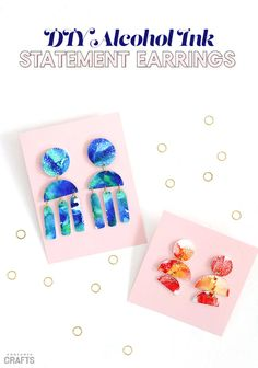 DIY Statement Earrings Using Alcohol Ink - Consumer Crafts