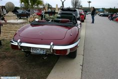 Jaguar E Type 4.2. As seen at the February 2013 Cars and Coffee show in Austin TX USA.