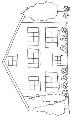 coloriage d'une maison dessin 2