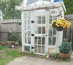 Greenhouse Made From Vintage Windows