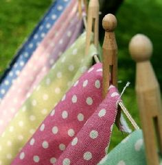 Sarah Hardaker - Polka Dot Fabric Collection - Polka dot fabrics in seven different bright colours hanging from a washing line with vintage style wooden pegs Polka Dot Fabric, Polka Dots, What A Nice Day, Laundry Lines, Vintage Laundry, Connect The Dots, Clothes Line, Sweet Memories, All The Colors