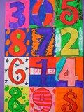 Artsonia Art Exhibit :: The ART of Numbers--3rd Inspired by Jasper Johns, Robert Indiana and Charles Demuth