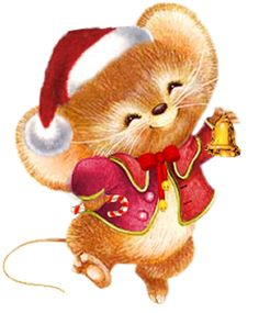 Printable - Mouse - Ruth Morehead Christmas Clipart, Vintage Christmas Cards, Christmas Printables, Christmas Pictures, Christmas Animals, Christmas Art, Christmas And New Year, Xmas, Maus Illustration