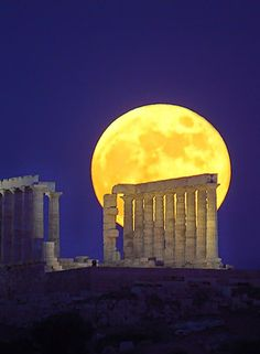 Greece Travel Inspiration - The Temple of Poseidon, Cape Sounio Greece