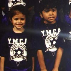 Rare picture of Selena with Priscilla when they played soccer on the YMCA team when they were young.