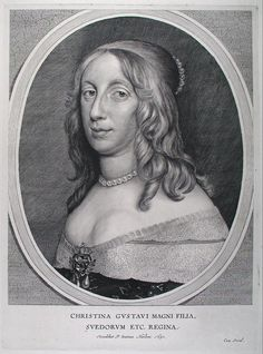Kristina (1626 - 1689) Queen of Sweden (1632 - 1654, reigned from 1644).