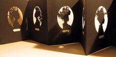Femmes du Monde by Béatrice Coron, 2007 cut arches paper, accordion artist book, 6.5 x 39 inches, edition of 5. $900