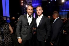 Actors Ryan Reynolds and Ryan Gosling attend the 22nd Annual Critics' Choice Awards.