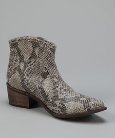 Take a look at this Coconuts Snakeskin Cannon Ankle Boot by Coconuts & Matisse on #zulily today!