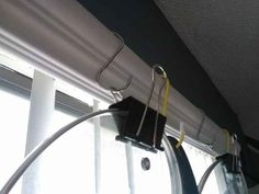 Pair s-hooks with binder clips for some simple pot storage.