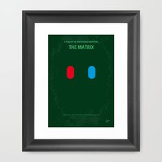 My MATRIX minimal movie poster Framed Art Print