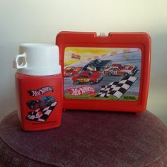 Hot Wheels Vintage Lunchbox Thermos Set 1980s by MintedxVintage
