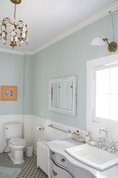 Super home office paint colors benjamin moore palladian blue Ideas Palladian Blue Bathroom, Blue Bathroom Paint, Bathroom Colors, Master Bathroom, Blue Bathrooms, Bathroom Ideas, White Bathroom, Shiplap Bathroom, Bathroom Modern