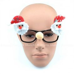 Santa added on either side of the black frame with a pom-pom in the middle. Perfect to wear during the Christmas holidays. Fits most adults. Made with high quality PVC. Christmas Glasses, Santa Christmas, Xmas, Fancy Dress, Dress Up, Fancy Costumes, Christmas Costumes, Costume Accessories, Middle