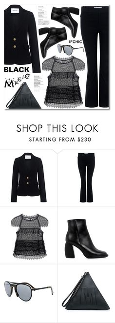 """""""Black Magic!"""" by ifchic ❤ liked on Polyvore featuring 10 Crosby Derek Lam, Marissa Webb, TIBI, Grey Ant and McQ by Alexander McQueen"""